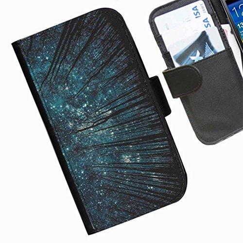 Hairyworm- Himmel Seiten Leder-Schützhülle für das Handy Samsung Galaxy Alpha (SM-G850F, SM-G850T, SM-G850M, SM-G850Y, SM-G850FQ)