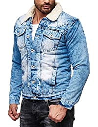 Red Bridge Herren Trucker Sherpa Denim RBC Jeansjacke gefüttert Jacke Mantel Herbst Winter Jeans Blue Denim Blau Original NEU