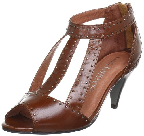 Lise Lindvig Damen JOSELYN Peep-Toe Braun (Dark brown 35) 39 EU Dark Brown Peep Toe