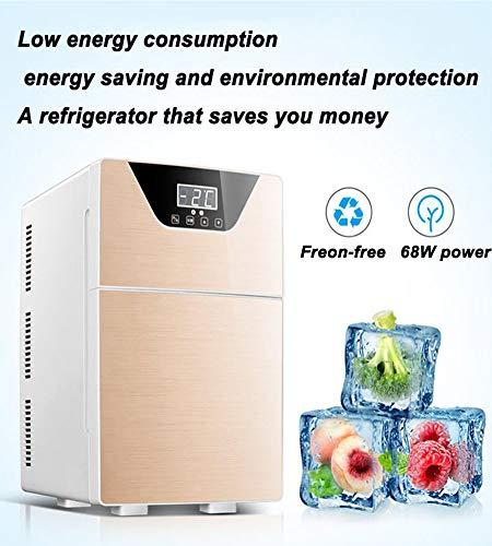 51X2X0D83%2BL - JCDZSW Refrigerador de automóvil CNC de Tres núcleos 20L Mini refrigerador pequeño de Doble Uso para el hogar Adecuado para refrigeradores de Alimentos, medicamentos, cosméticos, hogar y Viajes,Plata