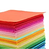 #7: iDream Multicolour Non Woven Felt Fabric For Sewing Decoration Dolls Crafts DIY - 15cm x 15cm (Pack of 40)