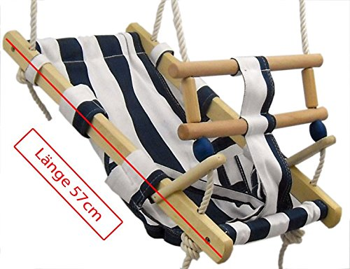 Babyschaukel Babyliegeschaukel Schaukelsitz Babysitz Babywippe Babyhängematte, Babyschaukel:blau/weiß