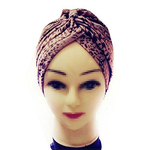 TININNA Bandana a pieghe stile Vintage cuffia,Turbante Retro Equipaggiata copertura della testa Wrap fascia Chemo Bandana Hijab Pieghe Cap indiano-