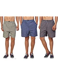 Fairdeals Boxers For Men Cotton By AVS/Boxers Pack Of 3/Casual & Checkered(S,M,L,XL)