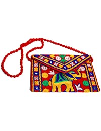 Rajasthani Handicraft Embroidered Clutch Sling Bag Clutch Bag - B07F1SS3GZ