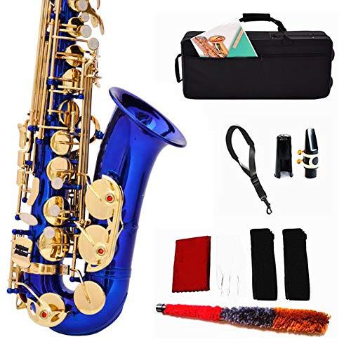 LVSSY-Alt Saxophon Eb,Methode 54 Schlüsselart Für Anfänger Erwachsene Mit Kopfstück Neckband Handschuhe Pinsel Cork Paste