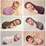 Generic Headband Set 2 : 16 Colors Newborn Photography Props Cotton Soft Photo Wrap Matching With Headband Infant Costume Outfit Baby Beanie Acessorios