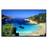 Excelvan - Beamer Leinwand für Beamer Projektor (120 Zoll,16: 9 Format, 265 x 149 cm, für HD Full HD, Heimkino, Klassenzimmer, Konferenz, Präsentation)