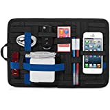 Ruff Grid Pad - Electronics Cosmetics Tool Organizer Nylon Bag Pouch For Apple Phones And Tablets (Black)