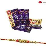 #7: Rakshabandhan Chocolate Gifts for Brother - Fancy Diamond Rakhi with Chocolates