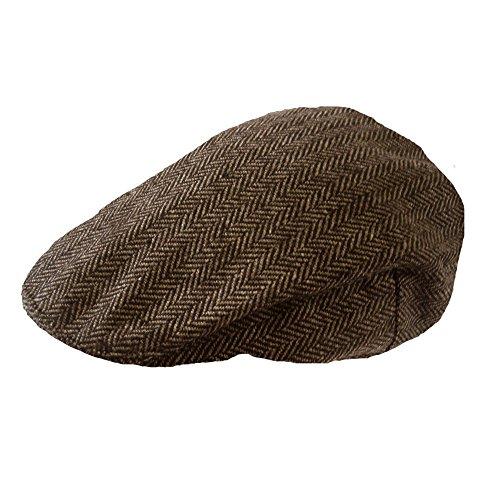 Herren Kariert Wollmischung Tweedkappe (Herren Jahre 20er)