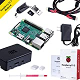 Noza Tec Raspberry Pi Model B with Black Casing, Power, Heatsink, 32GB SD Card, HDMI Cable