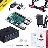 Raspberry Pi 3 Modèle B avec boîtier Noir, Alimentation, Dissipateur Thermique, Carte SD 32 Go, HDMI Câble