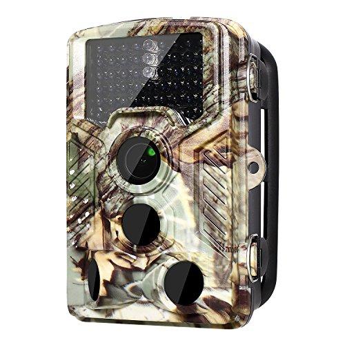 [Die Neuesten 16MP Wildkamera] 1080p Jagdkamera 120° PIR Weitwinkel, 0.2s Trigger Zeit, Infrarot 20m Nachtsicht Bewegung aktiviert, 2,4'' LCD, IP56 Wasserdichte Jagdzeug Überwachungskamera
