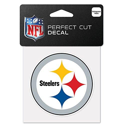 Wincraft NFL Pittsburgh Steelers 63065011perfekten Schnitt Farbe Aufkleber, 10,2x 10,2cm schwarz