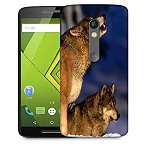 Snoogg Dog Roaring Designer Protective Phone Back Case Cover For Motorola Moto X Play