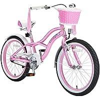 BIKESTAR® Original Premium Design Kinderfahrrad für coole Kids ab 6 Jahren ★ 20er Deluxe Cruiser Edition ★ Glamour Pink