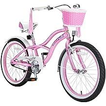 """BIKESTAR Bicicleta para niños ★ 20 pulgadas ★ Color Rosa ★ Frenos de tiro lateral y freno de contrapedal ★ A partir de 6 años ★ 20"""" Cruiser Edition 2018"""