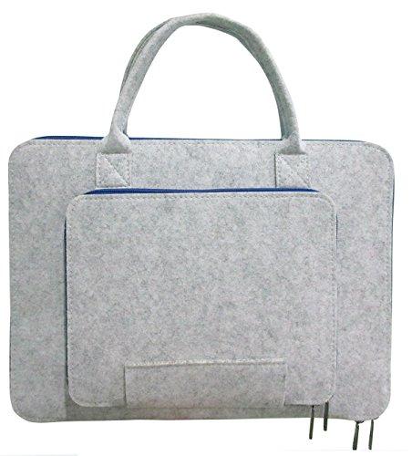 16 Zoll Laptop Schutzhülle Filz Tasche Hülle Sleeve Case Laptoptasche Notebooktasche Blau