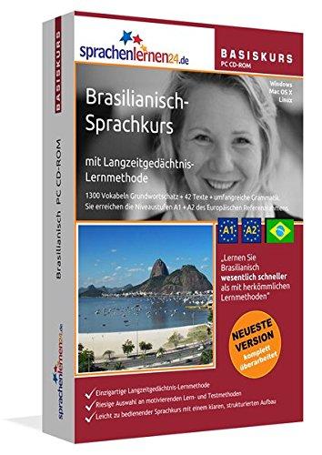 Brasilianisch-Basiskurs mit Langzeitgedächtnis-Lernmethode von Sprachenlernen24: Lernstufen A1+A2....