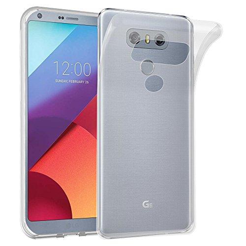 Preisvergleich Produktbild Cadorabo Hülle für LG G6 - Hülle in VOLL TRANSPARENT – Handyhülle aus TPU Silikon im Ultra Slim 'AIR' Design - Silikonhülle Schutzhülle Soft Back Cover Case Bumper