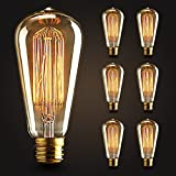 6×Neverland E27 40W Edison Rétro Lampe Antique Vintage Incandescence Ampoules Poire à cage d'écureuil Filament 50V-240V ST64