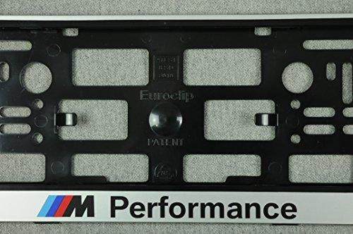 Preisvergleich Produktbild Set 2 x Kennzeichenhalter M Performance Grau Kennzeichenhalterung Nummernschildhalter NEU