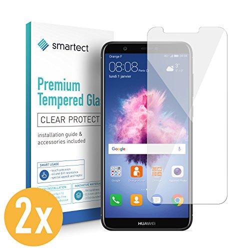 SmarTect 2X Protector de Pantalla de Cristal Templado para Huawei P Smart Lámina Protectora Ultrafina de 0,3mm | Vidrio Robusto con Dureza 9H y Antihuellas Dactilares