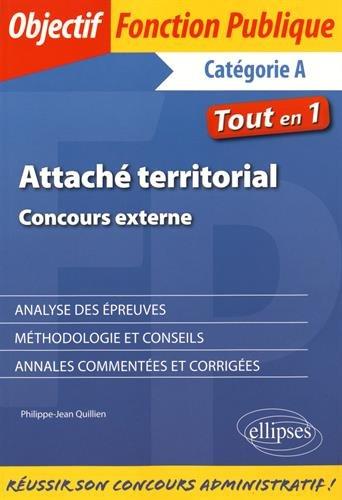 Attaché Territorial Concours Externe Tout en 1 Catégorie A
