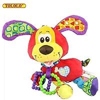 Baby Kleinkind Spielzeug Stoffspielzeug Geklapper Süße Tiere Kinderwagen Hanging Trainning für Neugeborenes Frühe Entwicklung,Hund
