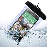 Wasserdichter Fall Beutel Trocken Tasche für HTC One M8/M7/LG G3/LG G2/Nokia Lumia 929/Nokia Lumia XL (Blau)