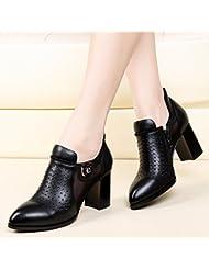 GBT Chaussures Creuses Avec Des Chaussures Épaisses À Talons Hauts Avec Des Chaussures À Talons Hauts