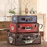 GFEI american vintage puntelli di legno / valigia scatola valigia vecchi antico arredo / decorazione / vetrina
