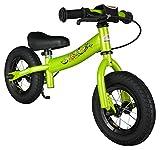 BIKESTAR Kinder Laufrad Lauflernrad Kinderrad für Jungen und Mädchen ab 2 - 3 Jahre  10 Zoll Sport Kinderlaufrad  Grün