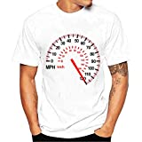 MIRRAY Men Hommes Printing Impression Tees Tees Shirt Chemise Short Court Sleeve Manche T T Shirt Chemise Blouse Chemisier Blanc XL