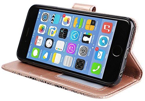 Coque Iphone 5S Neuf, Iphone SE Accessories, Iphone 5S Coque silicone, Iphone 5 Coque silicone, Nnopbeclik® Mode Fine Folio Wallet/Portefeuille en Bonne Qualité PU Cuir Housse pour Iphone 5/5S/SE (4.0 champagneor