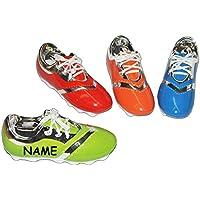 Preisvergleich für Unbekannt Sparschwein Fußball Schuh incl. Name - Porzellan / Keramik - stabile Sparbüchse Spardose Kinder Fussball