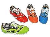 Sparschwein Fußball Schuh incl. Name - Porzellan / Keramik - stabile Sparbüchse Spardose Kinder Fussball