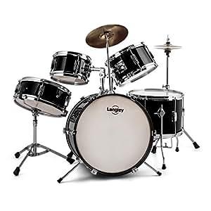 Langley Junior Drum 1 Set complet de batterie pour enfant - noir