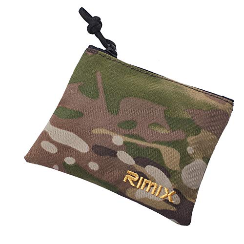 YSoutstripdu Münztasche RIMIX Multifunktionale Outdoor Tactics Cash Key Holder Zipper Wallet-Black/Camouflage