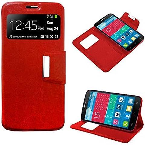 Funda Flip Cover Premium color Rojo para LG JOY