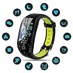 Idea Regalo - Tipmant Orologio Fitness Uomo Donna Smartwatch Pressione Sanguigna Bracciale Cardiofrequenzimetro da Polso Impermeabile IP68 Contapassi Sportivo Fitness Tracker per iOS Android Samsung Huawei Xiaomi