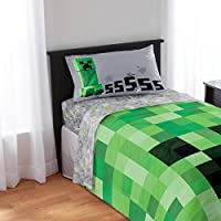 Minecraft Kids Twin 3 pc Bedding Sheet Set
