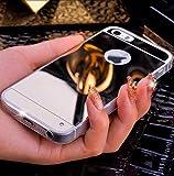 Coque iphone 5 5S Luxe cristal cover effet miroir Chrome ESS TECH tpu silicone semi souple etui