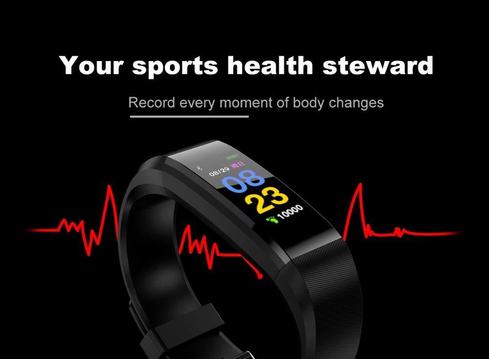 Fitness Tracker, reloj de pulsera de actividad con monitor de presión arterial IP67 resistente al agua con podómetro, contador de calorías y contador de pasos, regalo de cumpleaños para niños, mujeres, hombres 7