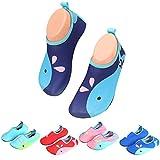 katliu Chaussures d'eau Enfant Bébé Chaussures Filles Garcon Chaussures Aquatiques Chausson pour Piscine et Plage,Bleu 23