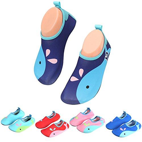 Badeschuhe Wasserschuhe Strandschuhe Mädchen Jungen Schwimmschuhe Barfußschuhe Surfschuhe Kinder Baby Aqua Schuhe Socken,Blau 25