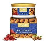 Organic Cold crema con olio di mandorle, aloe vera & Saffron all Natural–Paraban free–Sulfate free–unisex–ideale per tutti i tipi di pelle 150gms