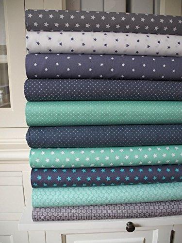lottashaus-10x-stoff-mint-turkis-grau-sterne-stoffpaket-no33-stoffe-patchwork-shabby-chic