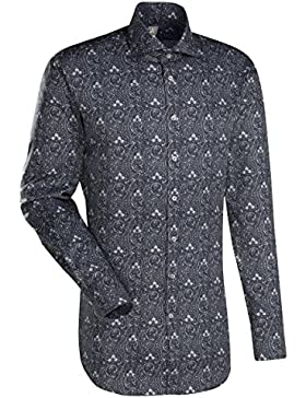 JACQUES BRITT Business Hemd Custom Fit 1/1-Arm Bügelleicht City-Hemd Hai-Kragen Manschette weitenverstellbar
